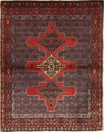 Senneh Alfombra 121X155 Oriental Hecha A Mano Rojo Oscuro/Negro (Lana, Persia/Irán)