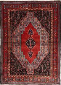 Senneh Vloerkleed 115X160 Echt Oosters Handgeknoopt Donkerrood (Wol, Perzië/Iran)
