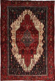 Senneh Tapijt 123X185 Echt Oosters Handgeknoopt Donkerrood (Wol, Perzië/Iran)