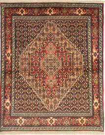 Senneh Rug 122X158 Authentic  Oriental Handknotted Light Brown/Dark Brown (Wool, Persia/Iran)