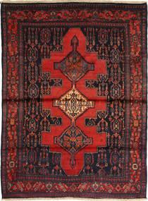 Senneh Vloerkleed 116X162 Echt Oosters Handgeknoopt Donkerrood/Bruin (Wol, Perzië/Iran)