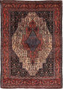 Senneh Matto 120X174 Itämainen Käsinsolmittu Tummanpunainen/Musta (Villa, Persia/Iran)