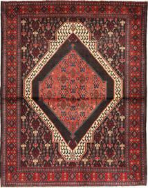 Senneh Matto 137X174 Itämainen Käsinsolmittu Tummanpunainen/Ruskea/Tummanruskea (Villa, Persia/Iran)