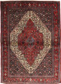 Senneh Vloerkleed 115X155 Echt Oosters Handgeknoopt Donkerrood/Bruin (Wol, Perzië/Iran)