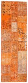 Patchwork Teppe 80X249 Ekte Moderne Håndknyttet Teppeløpere Orange/Lysbrun (Ull, Tyrkia)