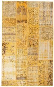 Patchwork Tappeto 138X222 Moderno Fatto A Mano Marrone Chiaro/Giallo (Lana, Turchia)