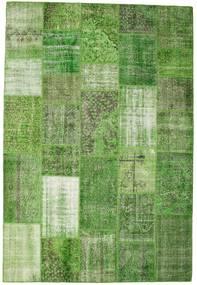 パッチワーク 絨毯 201X298 モダン 手織り オリーブ色/ライトグリーン (ウール, トルコ)