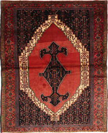 Senneh Rug 155X190 Authentic Oriental Handknotted Dark Red/Brown (Wool, Persia/Iran)