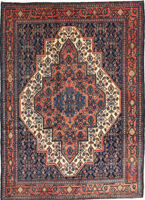Senneh Rug 120X165 Authentic  Oriental Handknotted Purple/Black (Wool, Persia/Iran)