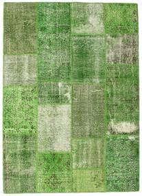 Patchwork Alfombra 201X302 Moderna Hecha A Mano Verde Claro/Verde Oscuro/Verde (Lana, Turquía)