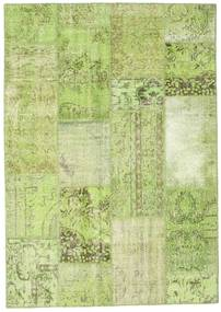 Patchwork Rug 160X228 Authentic  Modern Handknotted Light Green (Wool, Turkey)