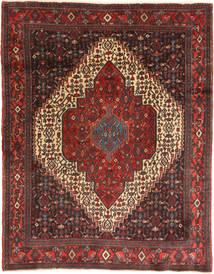 Senneh Matto 116X158 Itämainen Käsinsolmittu Tummanruskea/Tummanpunainen (Villa, Persia/Iran)