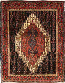 Senneh Tapis 122X163 D'orient Fait Main Marron Foncé/Rouge Foncé (Laine, Perse/Iran)