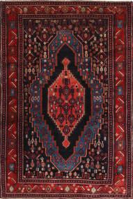 Senneh Tapijt 120X190 Echt Oosters Handgeknoopt Donkerrood (Wol, Perzië/Iran)