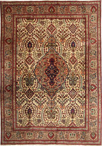 Tabriz Rug 250X357 Authentic  Oriental Handknotted Dark Red/Light Brown Large (Wool, Persia/Iran)