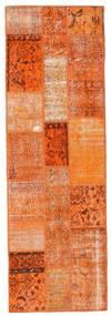 Patchwork Tappeto 79X247 Moderno Fatto A Mano Alfombra Pasillo Arancione/Marrone Chiaro (Lana, Turchia)
