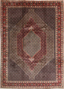 Senneh Rug 250X350 Authentic Oriental Handknotted Light Brown/Dark Brown Large (Wool, Persia/Iran)