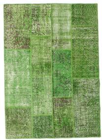 Patchwork Tappeto 141X202 Moderno Fatto A Mano Verde Chiaro/Verde Scuro/Verde (Lana, Turchia)