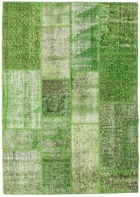 Patchwork Χαλι 142X201 Σύγχρονα Χειροποιητο Ανοιχτό Πράσινο/Πράσινο/Παστέλ Πράσινο/Σκούρο Πράσινο (Μαλλί, Τουρκικά)