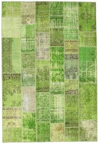 Patchwork Rug 201X298 Authentic  Modern Handknotted Light Green/Green  (Wool, Turkey)
