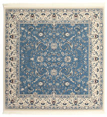 Nain Florentine - Azul Claro Alfombra 300X300 Oriental Cuadrada Beige/Gris Oscuro/Azul Grande ( Turquía)