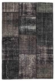 Patchwork Szőnyeg 121X184 Modern Csomózású Fekete/Sötétkék (Gyapjú, Törökország)