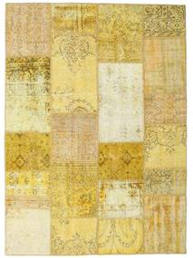 Patchwork Rug 160X222 Authentic  Modern Handknotted Yellow/Dark Beige (Wool, Turkey)