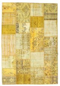 パッチワーク 絨毯 160X233 モダン 手織り 黄色/ベージュ (ウール, トルコ)