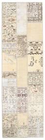パッチワーク 絨毯 80X259 モダン 手織り ベージュ/薄い灰色 (ウール, トルコ)