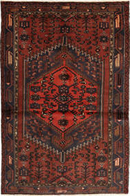 Hamadan Rug 128X198 Authentic  Oriental Handknotted Dark Red/Dark Brown (Wool, Persia/Iran)