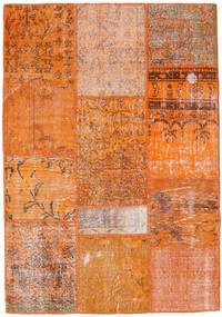 Patchwork Tappeto 122X177 Moderno Fatto A Mano Arancione/Marrone Chiaro (Lana, Turchia)