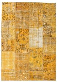 Patchwork Rug 161X230 Authentic  Modern Handknotted Light Brown/Orange (Wool, Turkey)
