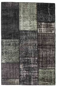 Patchwork Rug 121X182 Authentic  Modern Handknotted Dark Grey/Black (Wool, Turkey)