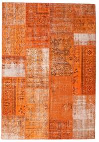 Patchwork Alfombra 162X234 Moderna Hecha A Mano Naranja/Óxido/Roja (Lana, Turquía)