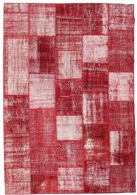 Patchwork Rug 202X294 Authentic  Modern Handknotted Crimson Red/Pink (Wool, Turkey)
