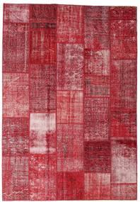 Patchwork Teppich  202X298 Echter Moderner Handgeknüpfter Rot/Rost/Rot (Wolle, Türkei)