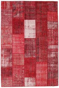 Patchwork Rug 202X298 Authentic  Modern Handknotted Crimson Red/Dark Red (Wool, Turkey)