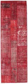 パッチワーク 絨毯 82X254 モダン 手織り 廊下 カーペット 赤/錆色 (ウール, トルコ)