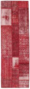 Patchwork Szőnyeg 84X254 Modern Csomózású Piros/Sötétpiros (Gyapjú, Törökország)