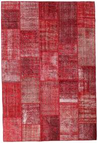 Patchwork Rug 202X300 Authentic  Modern Handknotted Crimson Red/Rust Red (Wool, Turkey)