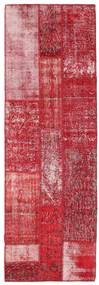 パッチワーク 絨毯 84X252 モダン 手織り 廊下 カーペット 赤/ピンク (ウール, トルコ)