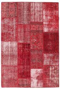 Patchwork Dywan 141X204 Nowoczesny Tkany Ręcznie Czerwony/Rdzawy/Czerwony (Wełna, Turcja)