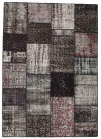 Patchwork Rug 163X230 Authentic  Modern Handknotted Dark Brown/Dark Grey (Wool, Turkey)