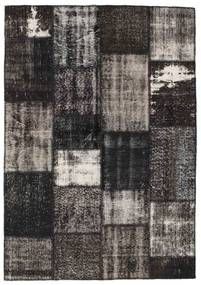 Patchwork Rug 161X232 Authentic  Modern Handknotted Dark Grey/Black (Wool, Turkey)