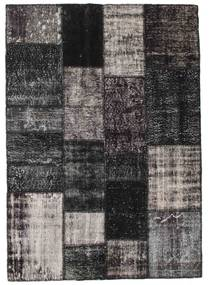 Patchwork Rug 143X201 Authentic  Modern Handknotted Black/Dark Blue (Wool, Turkey)
