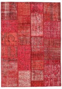 Patchwork Dywan 142X198 Nowoczesny Tkany Ręcznie Czerwony/Rdzawy/Czerwony (Wełna, Turcja)