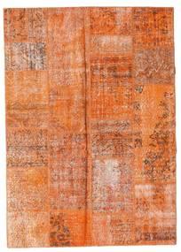 Patchwork Teppich  161X227 Echter Moderner Handgeknüpfter Orange/Hellbraun (Wolle, Türkei)