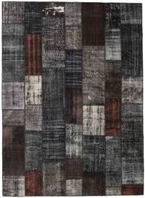 Patchwork Tapis 251X348 Moderne Fait Main Noir/Gris Foncé Grand (Laine, Turquie)