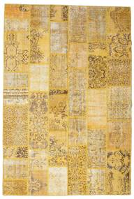 Patchwork Rug 201X299 Authentic  Modern Handknotted Yellow/Light Brown (Wool, Turkey)
