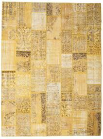 パッチワーク 絨毯 273X366 モダン 手織り 黄色/薄茶色 大きな (ウール, トルコ)